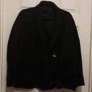 Zara Women Black Blazer Front Pockets Large